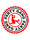 Party Gang Alcohol Beer Sex Fuck Porn Stamp poster