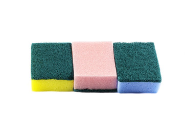 double side cleaning sponges stack horizontal