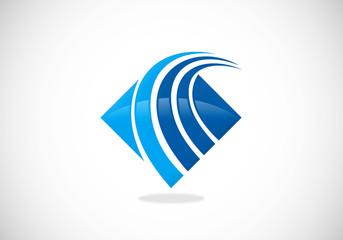 business finance flow loop vector logo