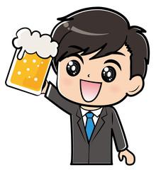 乾杯する男性