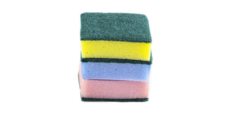 double side cleaning sponges stack up vertical