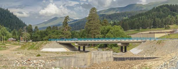 Новый мост через реку Архыз