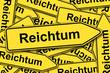 Reichtum - Schilder