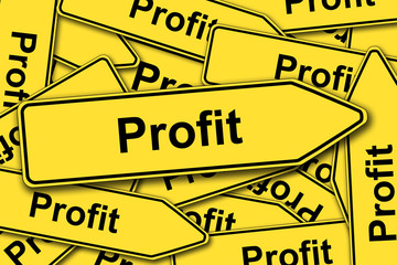 Profit, Schilder