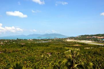 サムイ空港とパンガン島