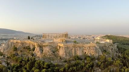Acropolis Parthenon Aerial view