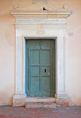 Ravenna, Italy,  old Saint Spirit Basilica door.