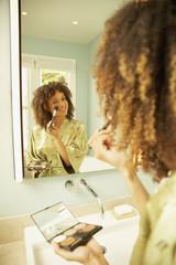 African American woman applying