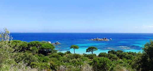 Panorama mer turquoise