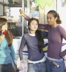 Multi-ethnic girls at carnival