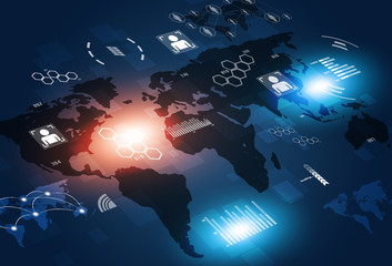 Concept Communications Technology Background