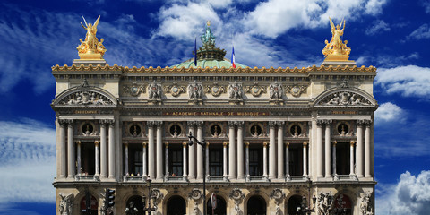 Building of the Grand-Opera in Paris, France