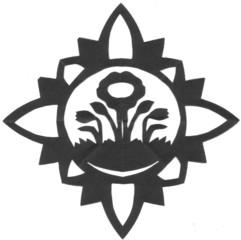 Scherenschnitt Blumenstern