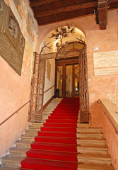 Ravenna, old city council building entrance
