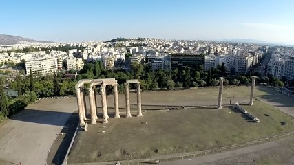 Temple of Olympian Zeus Aerial view