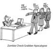 Постер, плакат: Zombie Check Grabber Apocalypse