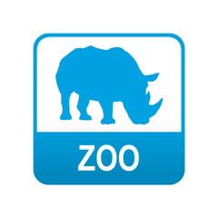 Etiqueta tipo app azul ZOO