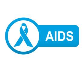 Etiqueta tipo app azul alargada AIDS
