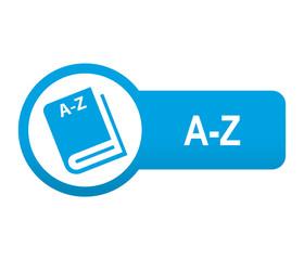 Etiqueta tipo app azul alargada A-Z