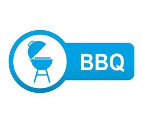 Etiqueta tipo app azul alargada BBQ