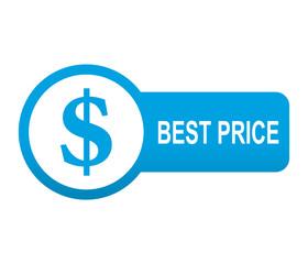 Etiqueta tipo app azul alargada BEST PRICE
