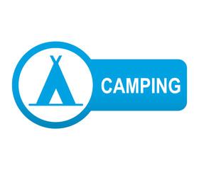 Etiqueta tipo app azul redonda CAMPING