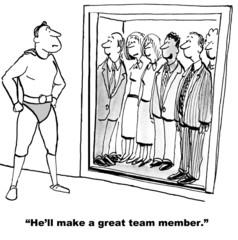 """He'll make a great team member."""