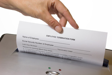 Discarding a employee termination form
