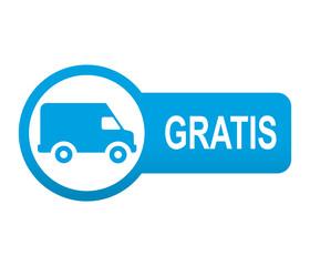 Etiqueta tipo app azul alargada furgoneta GRATIS