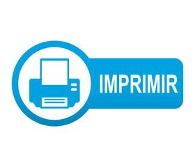 Etiqueta tipo app azul alargada IMPRIMIR