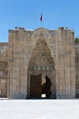 entrance to the Sultanhani caravansary on the Silk Road, Turkey