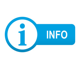 Etiqueta tipo app azul alargada INFO