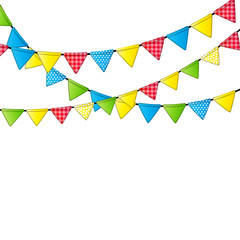 Party Flag Background Vector Illustration.