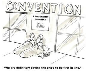 "Leadership Seminar:  ""... first in line."""