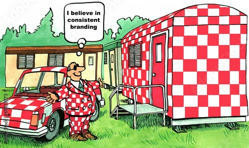 'I believe in consistent branding.' - 68438073