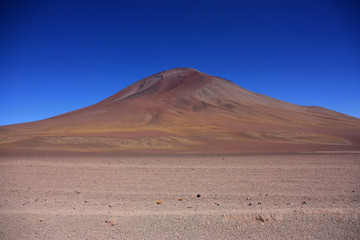 Volcano near the Laguna Colorada