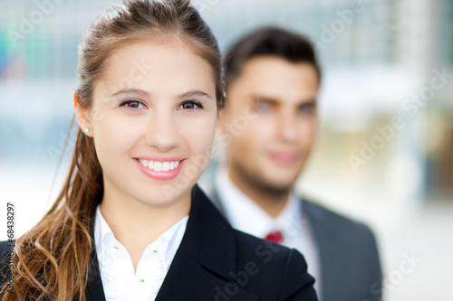 Two business people outdoor