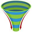 3d Spiral Funnel Chart