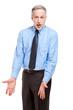 Mature angry businessman portrait