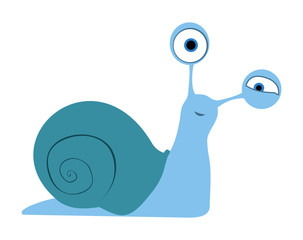 Snail with shell