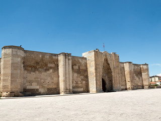 entrance to the Sultanhani caravansary on the Silk Road, Turkey