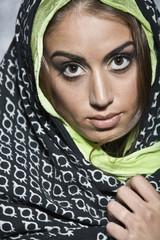 Middle Eastern woman wearing head scarf