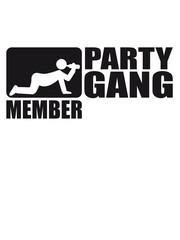 Party Gang Member Säufer trinken betrunken Bier