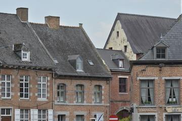Les maisons du centre historique d'Enghien