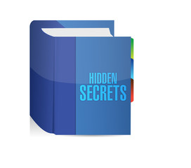 hidden secrets book illustration design