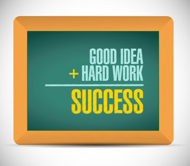 success equation message illustration design