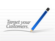target your customers message illustration