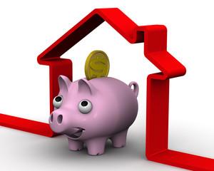 Сбережения на покупку недвижимости. Концепция