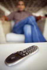 Close up of remote control
