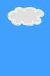 grey cloud isolated on blue sky